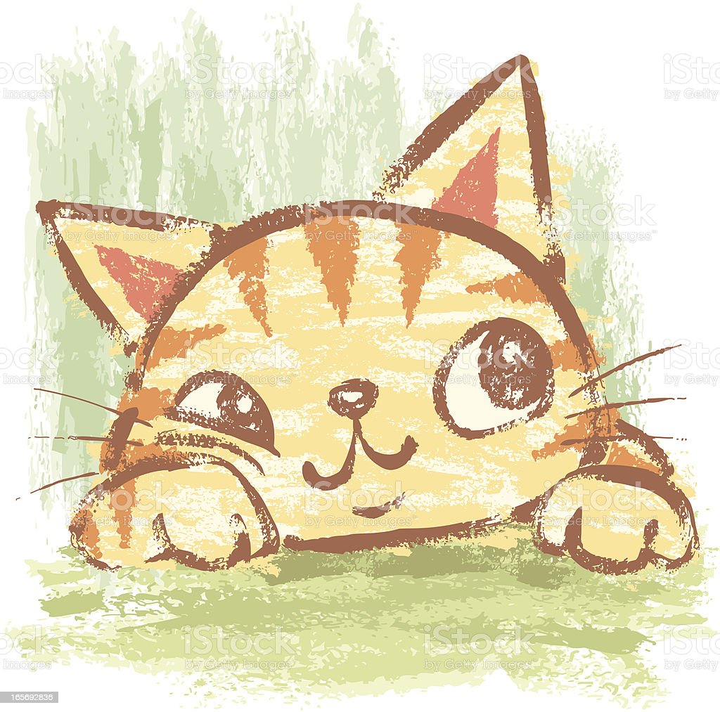 Cat that is relaxing vector art illustration