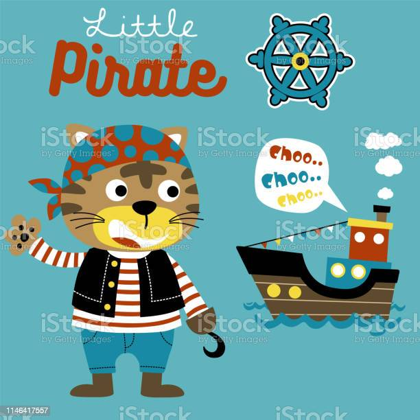 Cat the pirate cartoon with sailboat and steering wheel vector vector id1146417557?b=1&k=6&m=1146417557&s=612x612&h=56z8b39rtdhhhxl264gs76 6fosgzj1r5gaxqt92mss=