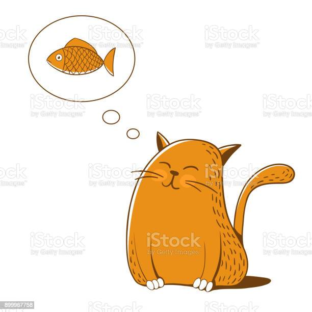 Cat thinks about fish vector illustration vector id899967758?b=1&k=6&m=899967758&s=612x612&h=sv2zhko2vczifw6gcihfynubqqqfsbwnz47gudcka 0=