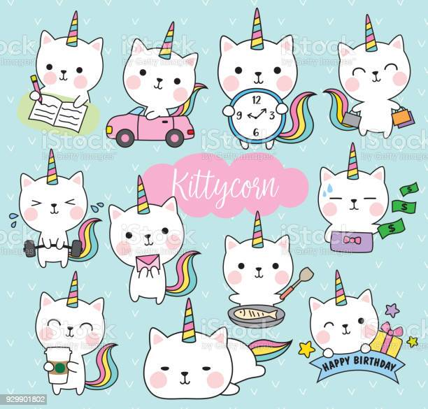 Cat unicorn life activity planner vector illustration vector id929901802?b=1&k=6&m=929901802&s=612x612&h=ncby 7 fp z4njw7m3mwcmets8oydzrrspzmywraypg=