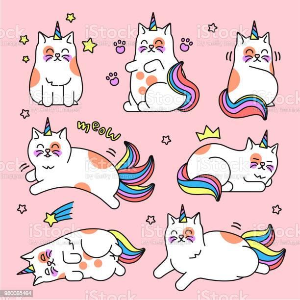 Cat unicorn set vector id980065464?b=1&k=6&m=980065464&s=612x612&h=sh6lrs1fzcut9adfcbedqhgoyycofkw yrwgthery6y=