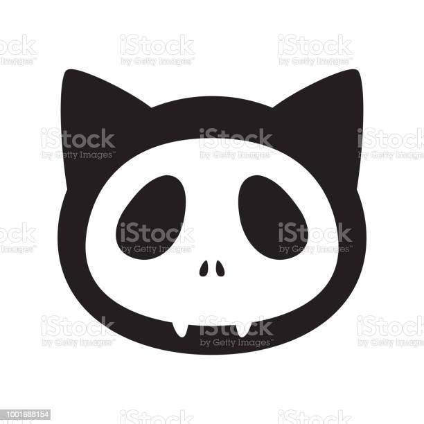 Cat vector halloween icon skull logo kitten cartoon character face vector id1001688154?b=1&k=6&m=1001688154&s=612x612&h=zjkqdndaxk31zm themf6umq8p3qwo6x 4irp55w7xy=