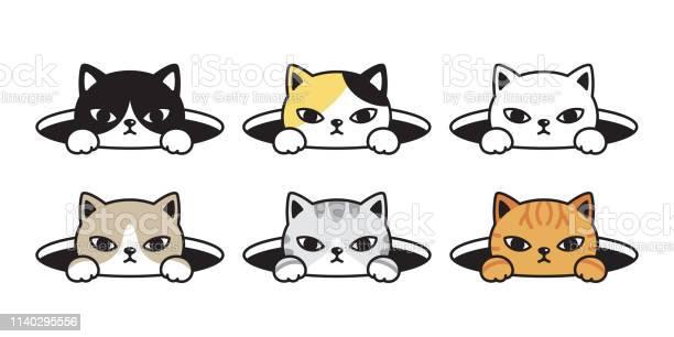 Cat vector head calico kitten black white icon cartoon character hole vector id1140295556?b=1&k=6&m=1140295556&s=612x612&h=u6awir9i9xq7mut5zoiw0xz8jwivc5sbp5t4lgdnr c=