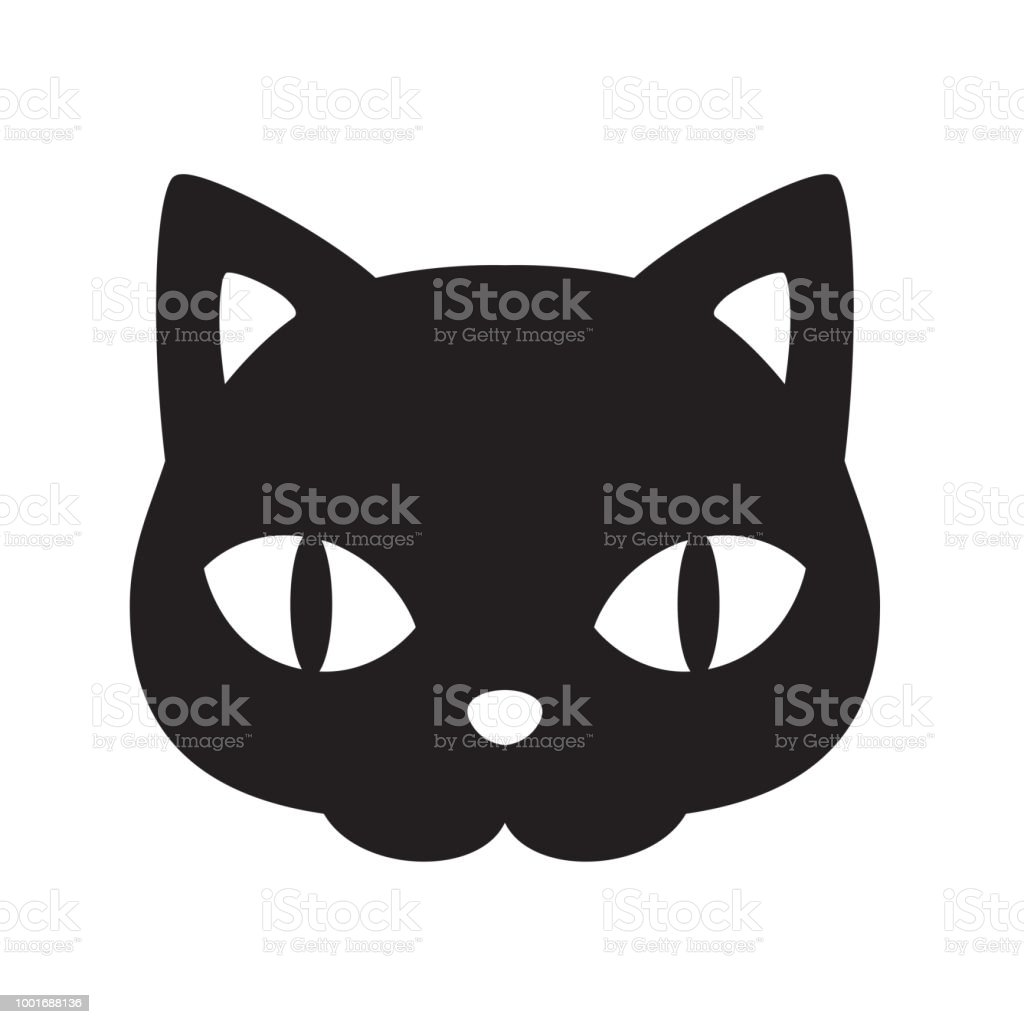 Cat Vector Icon Halloween Logo Kitten Cartoon Character Il Ration Face Head Black Calico Clip Art Graphic Il Ration