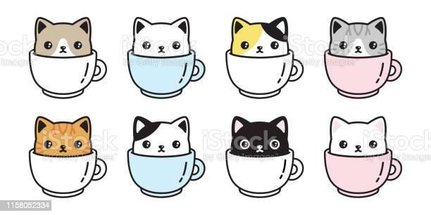 Cat vector icon kitten coffee cup calico logo fish symbol cartoon vector id1158052334?b=1&k=6&m=1158052334&s=612x612&h=5wenjz3k6mz05pjiqs9gxyuej2qbahjeiei0cqi3 rc=