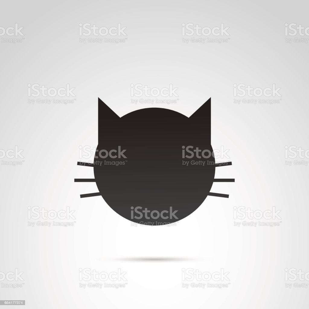 Icono de vector de gato. - ilustración de arte vectorial