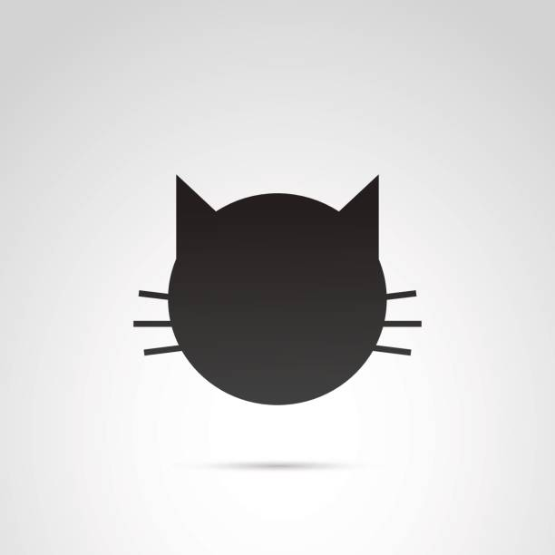 Cat vector icon. vector art illustration