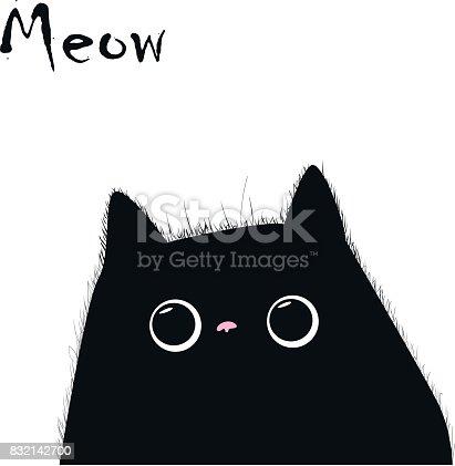 Cats vector, T-shirt Print, cartoon characters, cute cats hand drawn