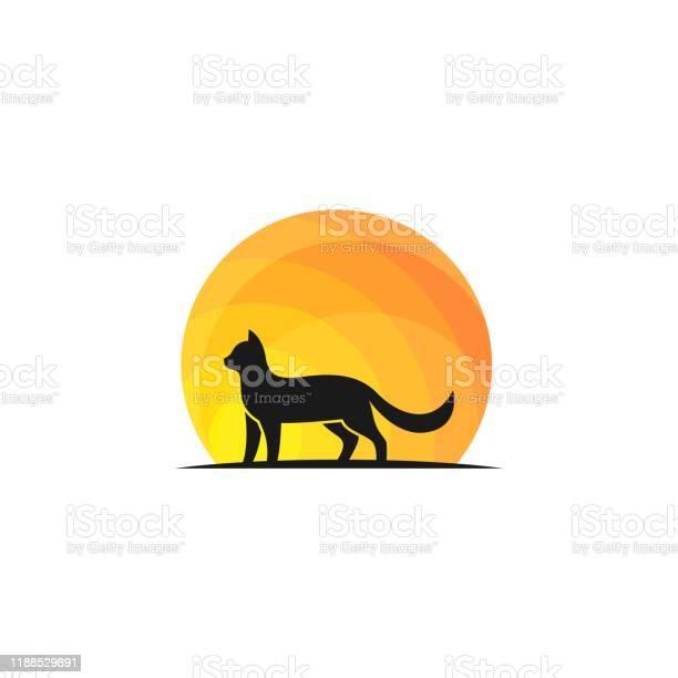 Cat walk on sunset design concept illustration vector template vector id1188529891?b=1&k=6&m=1188529891&s=612x612&h=rx2w0alrpul6opeoov14k5juj8bsggmyrewxugdkjcm=