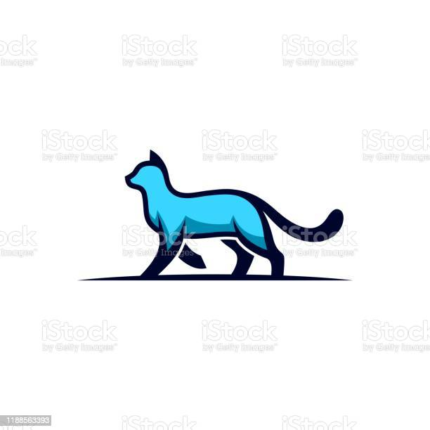 Cat walking design concept illustration vector template vector id1188563393?b=1&k=6&m=1188563393&s=612x612&h=zjwrymop44el2plnkdg1svadrunpupaiipj3p pnekq=