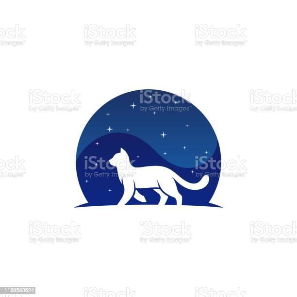 Cat walking night design concept illustration vector template vector id1188563524?b=1&k=6&m=1188563524&s=612x612&h=umhoufnsgwewjebpx34xccblchffi vgqskmnm1k1jk=