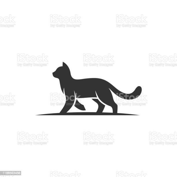 Cat walking silhouette design concept illustration vector template vector id1188563456?b=1&k=6&m=1188563456&s=612x612&h=ne3jvzghovau mcmec1qlr6b90oehxfmlv8w8icqvmm=