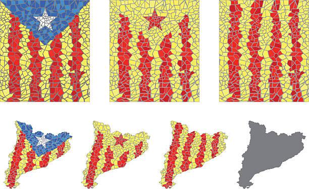 Catalán flags - ilustración de arte vectorial