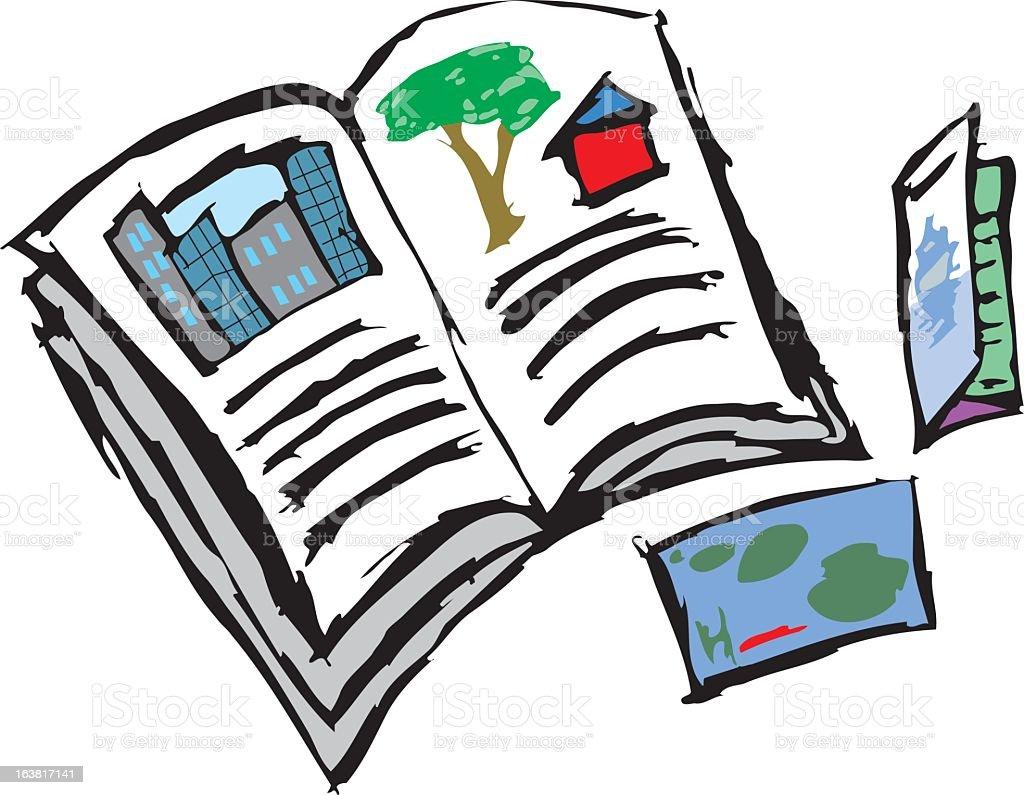 Catalogs and brochures vector art illustration