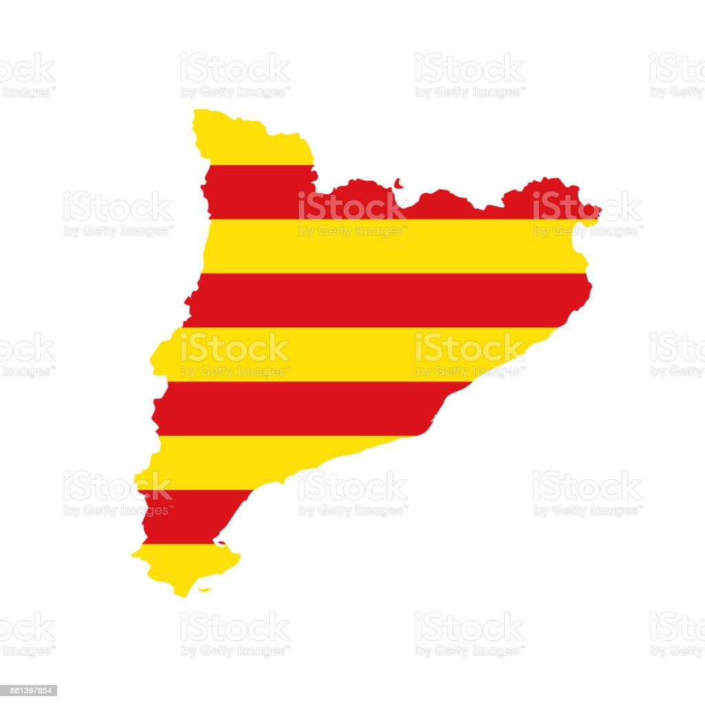 Carte Icom Barcelone.Icone Dindicateur Frontiere Carte Catalogne Barcelone Cliparts