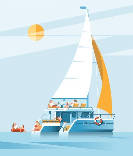 Catamaran Vectoriels Et Illustrations Libres De Droits Istock