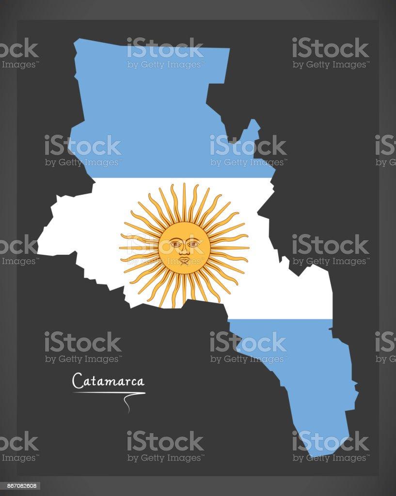 Ilustración De Mapa De Catamarca De Argentina Con La