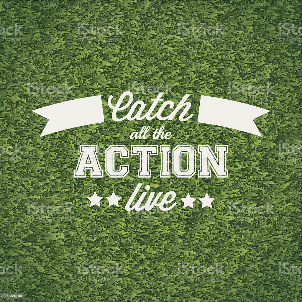 Catch all the action live vector art illustration