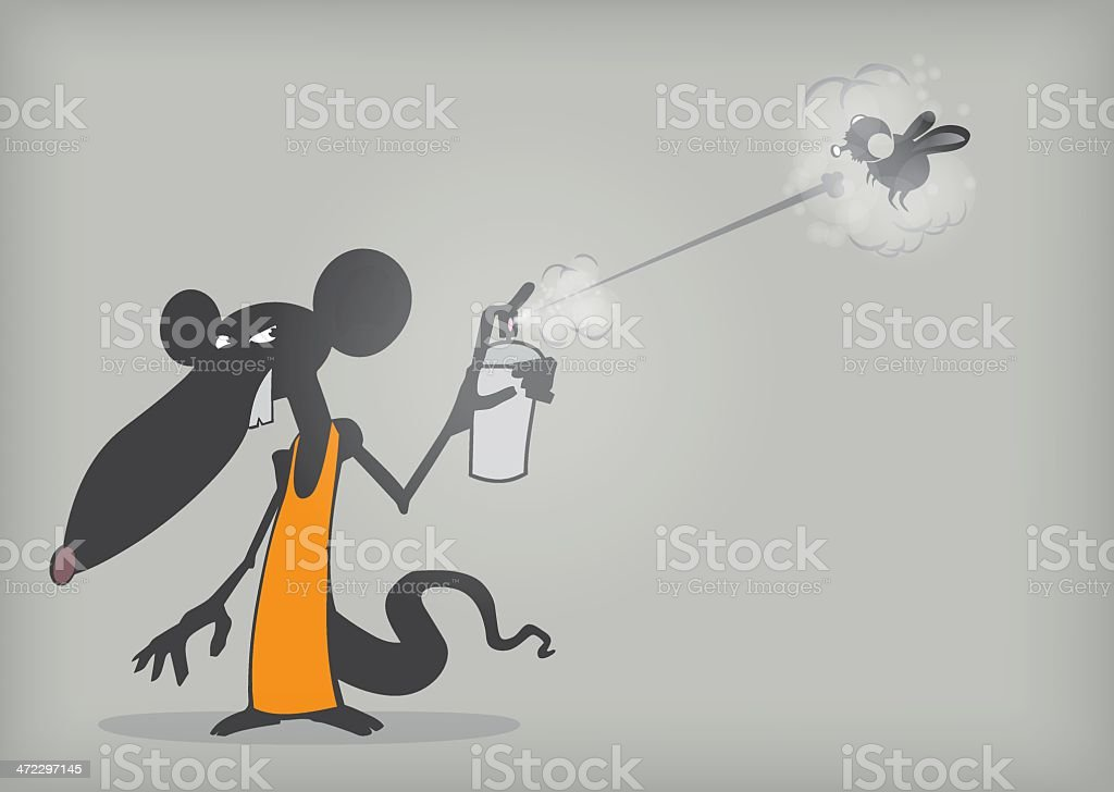 Catching a fly royalty-free catching a fly stock vector art & more images of animal