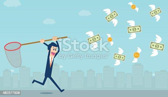 istock Catching money 482377508