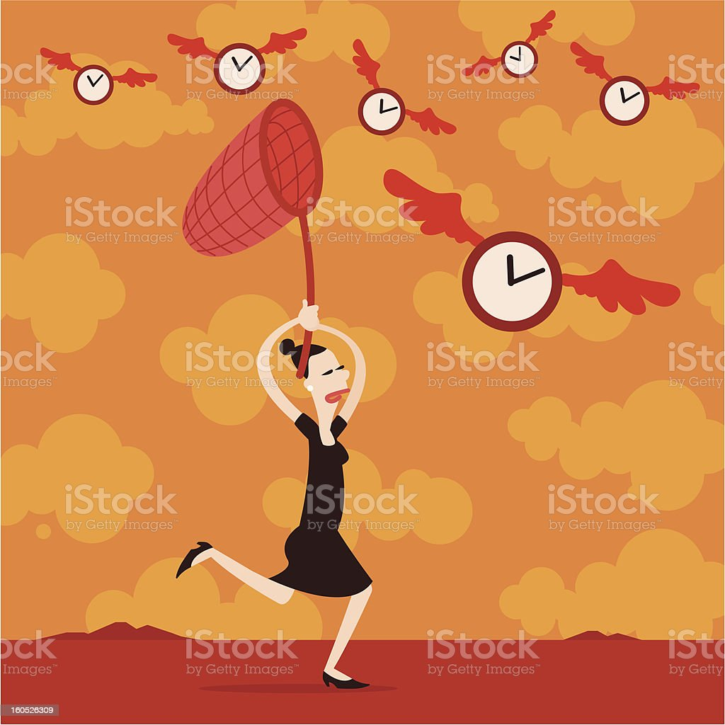 Catching time vector art illustration