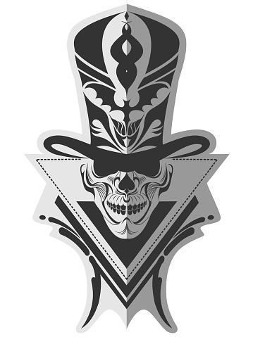 Catchy skull memorable design art