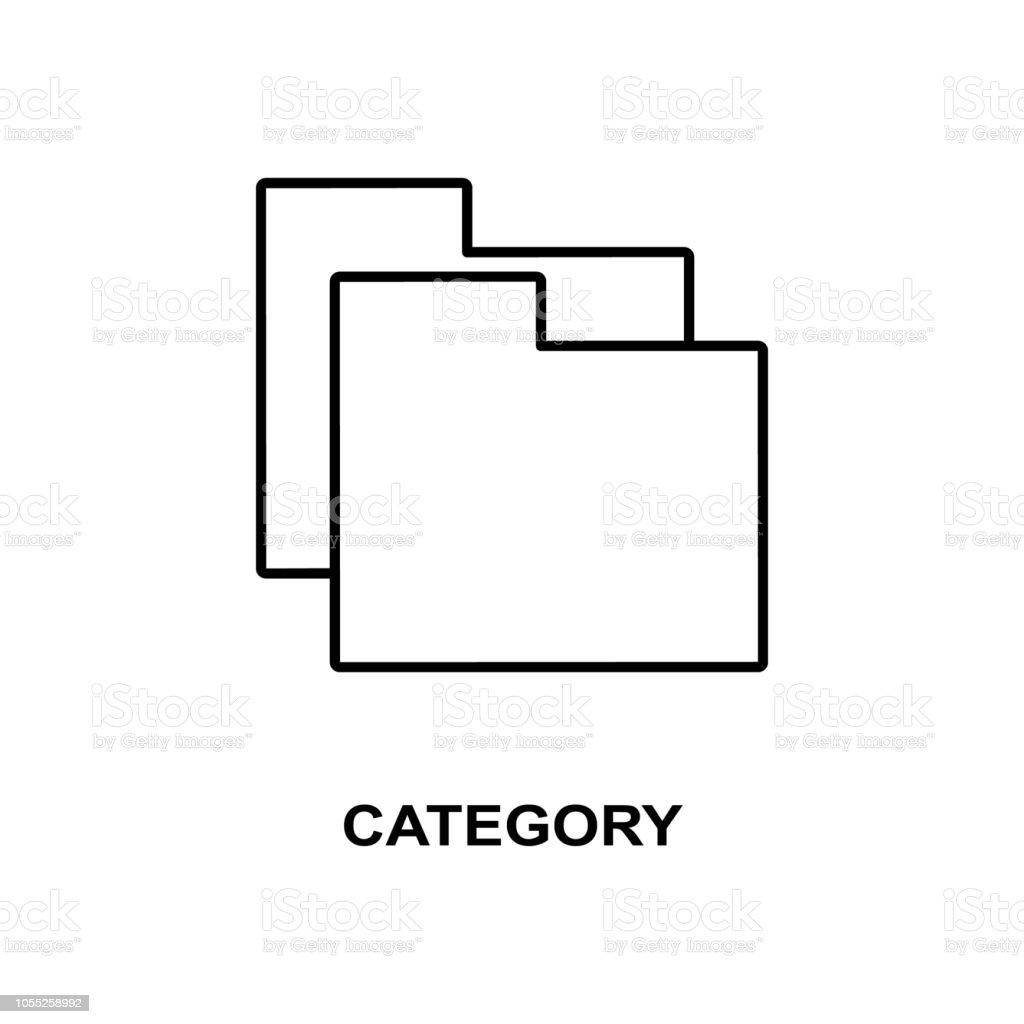 Icône De Catégorie De Signe Élément Dicône Web Simple Avec Le Nom Pour Des  Applications Mobiles De Concept Et Web Icône De Panneau De Catégorie Fine  Ligne Peut Être Utilisé Pour Le