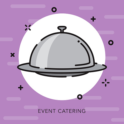 Catering Open Outline Celebrations & Parties Icon