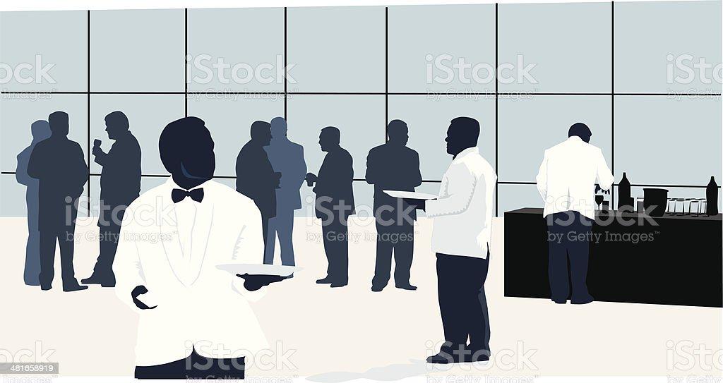 Servicio de Catering - ilustración de arte vectorial