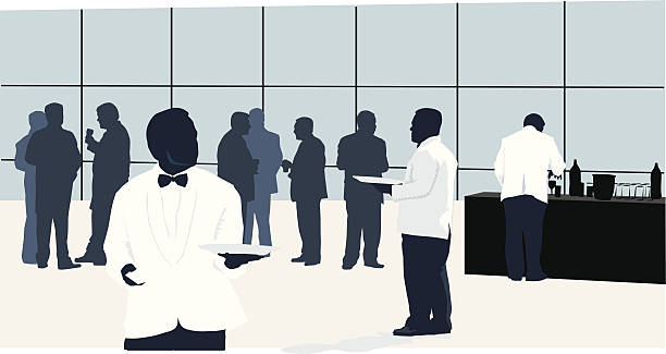 catering - office party stock illustrations, clip art, cartoons, & icons