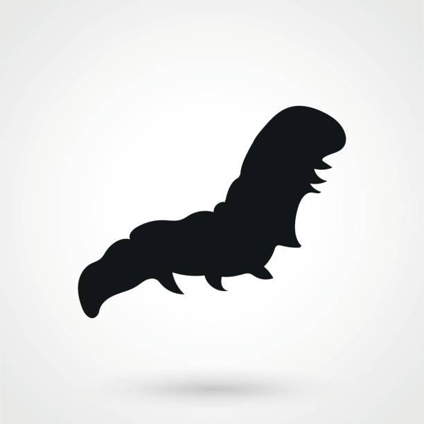 stockillustraties, clipart, cartoons en iconen met caterpillar pictogram in een eenvoudige stijl - rups