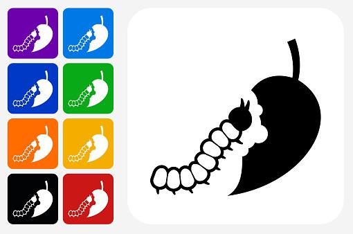 Caterpillar Icon Square Button Set