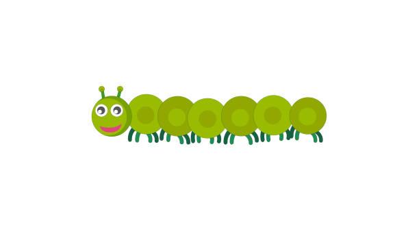 stockillustraties, clipart, cartoons en iconen met caterpillar pictogram - larve
