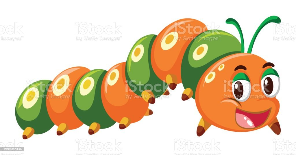Caterpillar in orange and green color royalty-free caterpillar in orange and green color stock vector art & more images of animal