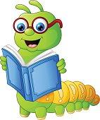 Caterpillar reading book