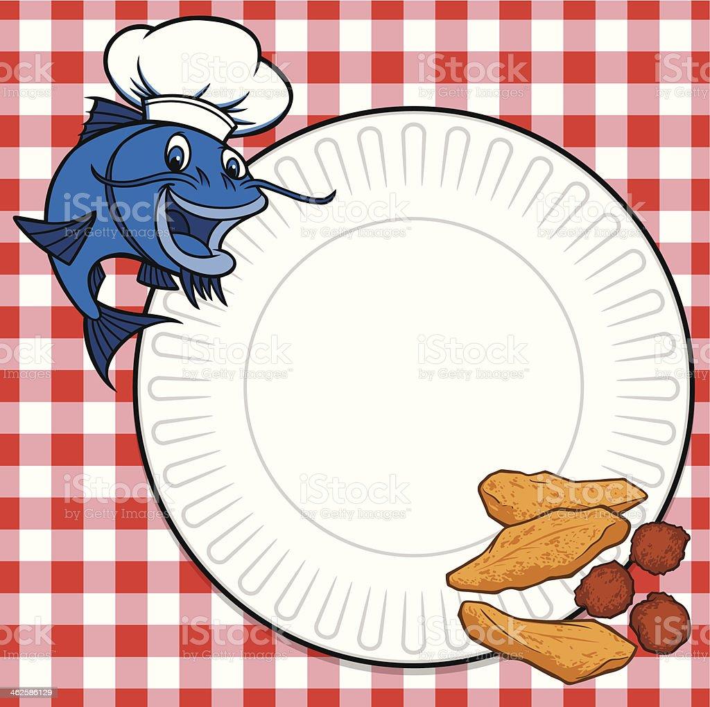 Catfish Cookout vector art illustration