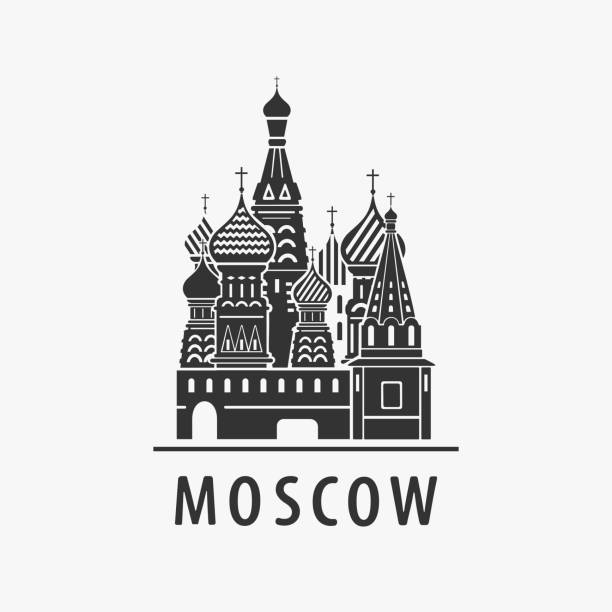 Cathedral Moscow Vector Symbol Cathedral Moscow Vector Symbol eps 8 file format kremlin stock illustrations