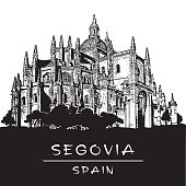 Cathedral of Segovia. Gothic architecture in Spain.