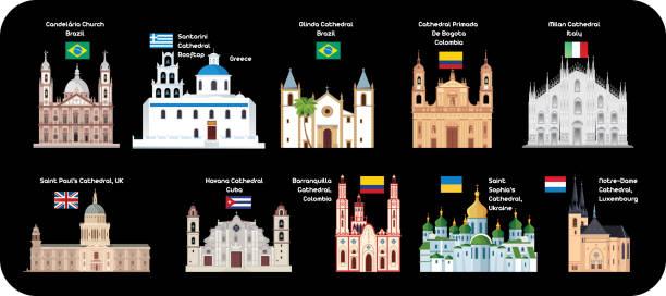 illustrazioni stock, clip art, cartoni animati e icone di tendenza di cathedrals - palermo città