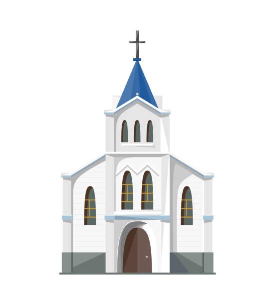 Catholic church icon isolated on white background vector art illustration