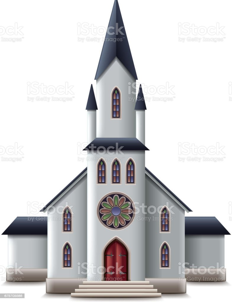 Catholic church isolated on white vector royalty-free catholic church isolated on white vector stock vector art & more images of clip art