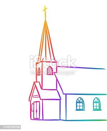 istock Catholic Church Rainbow 1249255206