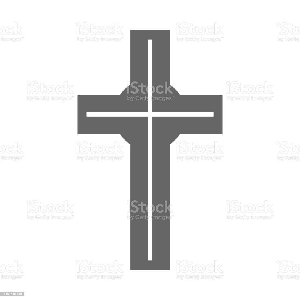 Catholic Cross Sign Christian Religion Symbol Vector Icon Stock