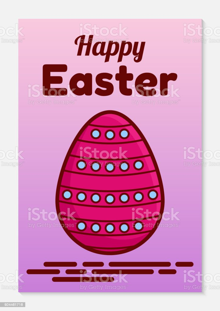Catholic easter greeting card or invitation a flat icon of a catholic easter greeting card or invitation a flat icon of a traditional painted egg m4hsunfo Images