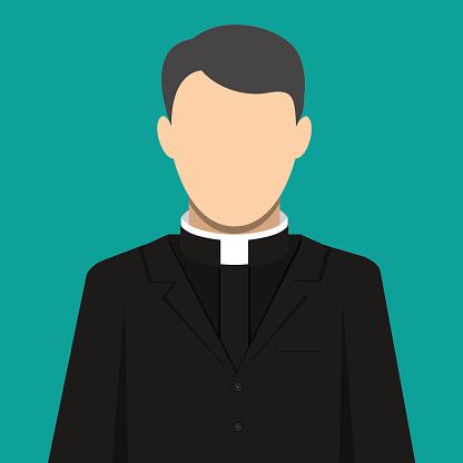 Catholic priest. Pastor servant of god in cassock