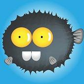catoon blowfish funny
