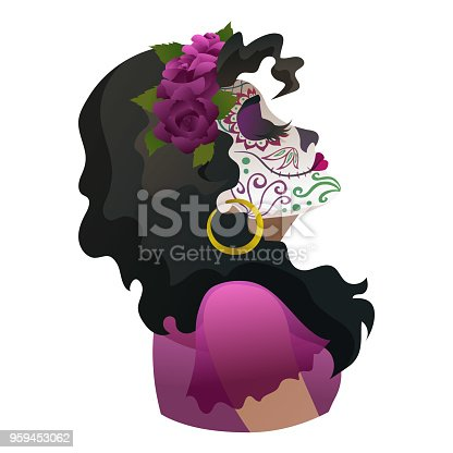 Catrina Day Of The Dead Symbol Of Mexico Stock Vector Art More