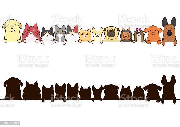 Cats and dogs border set with silhouette vector id619498894?b=1&k=6&m=619498894&s=612x612&h=84g11bpll437iu8wjxsczavcwzyxayypawa6ejq5t7w=