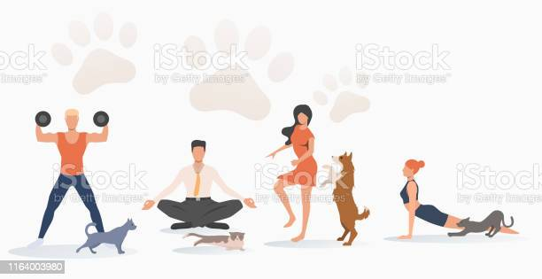Cats and dogs owners training vector id1164003980?b=1&k=6&m=1164003980&s=612x612&h=rss1j5tgivk974zygl9m0jyyov8fe62kpoibdt0ecua=