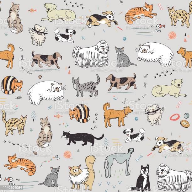 Cats and dogs pattern vector id1140104084?b=1&k=6&m=1140104084&s=612x612&h=ouedyzisucj vuhgd3twazfla a1l tgd8xqsbcdonc=